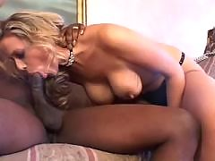 White Snatch Takes A Big Black Dick