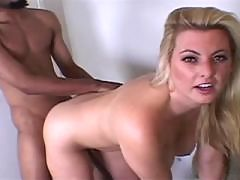 Cute White Chick Plowed by Black Dick